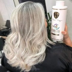 Zilvershampoo Haartoner&Haarmasker fantastische heldere koele tinten ROBSON PELUQUERO Four Forces 1000ml Original Brasil Top Product