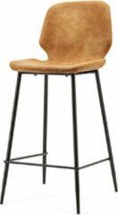 Vtw Living Industriële barkruk - Barkruk - Industrieel - Barstoel - Stoel - Kruk - Sfeer - Trendy - Bar Chair - Chair - Cognac - 94 cm hoog
