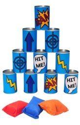 Afbeelding van BS Toys BuitenSpeel Blikgooien Werpspel - Blauw