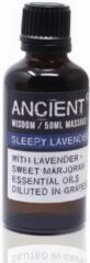 WGifts Sleepy Lavendel Massageolie - 50 ml