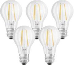 OSRAM LED-lamp Energielabel A++ (A++ - E) E27 Peer 7 W = 60 W Warmwit (Ã x l) 60 mm x 105 mm Filament / Retro-LED 5 stuk(s)