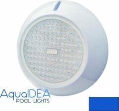 Witte AquaIDEA Zwembadverlichting 20W BLAUW LICHT 12 volt 108 SMD LEDs Ø250mm Opbouw IP68