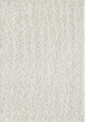 Creme witte Loca Impression Shaggy Vloerkleed Creme Hoogpolig - 60x110 CM