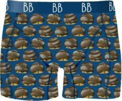 Merkloos / Sans marque Bossche Bol Boxershort - Donkerblauw M
