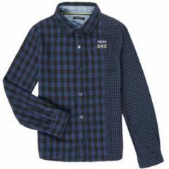 Blauwe Overhemd Lange Mouw Ikks XR12123