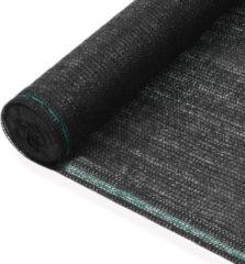 VidaXL Tennisnet 1x25 m HDPE zwart