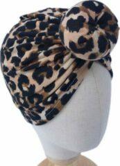 Babygifts4you Haarband-mutsje-baby-tulband-Luipaard