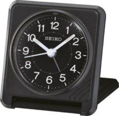 Seiko reiswekker QHT015K elektronisch piep alarm - zwarte uitvoering