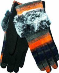 Winter handschoenen SO FOXY van BellaBelga - oranje-grijs
