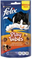 Felix Play Tubes - Kattensnack - Kip Lever 50 g
