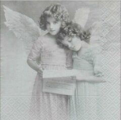 Sagen Vintage Design, Angels reading papieren servetten