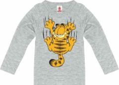 Licht-grijze Logoshirt Shirt met lange mouwen