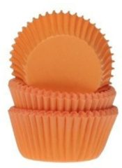 House of Marie Cupcake Cups MINI Oranje 35x23mm. 50st.