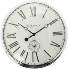 Riverdale NL Wandklok Cambridge zilver 50cm
