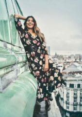 Oranje LOLALIZA Maxi jurk met bloemen Dames Jurk Maat S