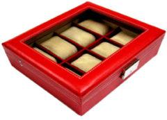 Benson Leder Horlogebox A4 Rood