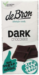 De Bron Suikervrije Tablet Dark Chocolate