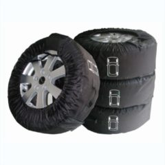 Zwarte ProPlus winter- en zomerbanden hoezenset 390053