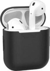 Teishop Siliconen case geschikt voor Apple Airpods – Zwart
