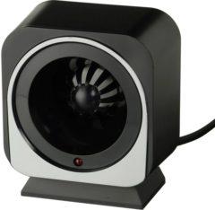 Zwarte Elektrische ratten/muizenverjager met ultrasoon geluid bereik 100 H11x9x7cm Nature