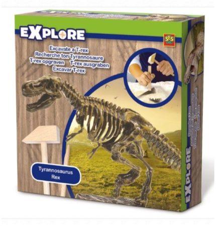 Afbeelding van SES Creative T-rex skelet opgraven 20 x 20 cm Explore