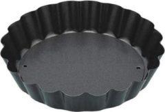 Grijze KitchenCraft Mini bakvorm rond geribbeld met losse bodem - 10cm - Kitchen Craft
