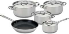 Zilveren 5-delige Pannenset - RVS - Silampos