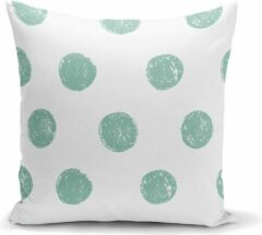 Groene Zijou Decoratieve sierkussen deco mint patroon- Binnen of buiten 45x45cm
