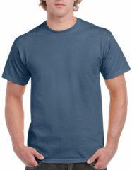 Blauwe Gildan Indigoblauw katoenen shirt voor volwassenen XL (42/54)