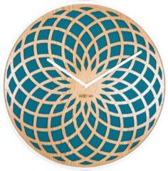 NeXtime Sun Large - Klok - Stil Uurwerk - Groot - Rond - Ø50 cm - Turquoise
