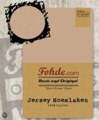 Zandkleurige Fohde Hoeslaken Jersey hoeslaken - 140 X 220 cm - Zand