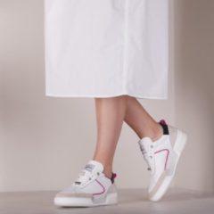 Shabbies Dames Lage sneakers 101020115 - Beige - Maat 40