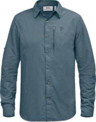 Fjällräven - Abisko Hike Shirt L/S - Overhemd maat S, blauw/grijs