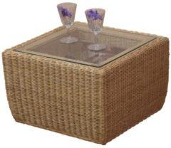 Möbel direkt online Moebel direkt online Beistelltisch Rattantisch Tisch mit Glasplatte Sicherheitsglas
