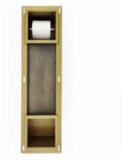 Mueller mat gouden inbouw toiletrolhouder met reserverol houder
