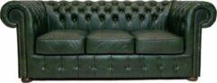 Chesterfield Bank Class Leer | 3-zits | Cloudy groen | 12 jaar garantie