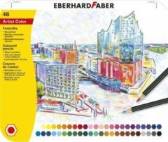 Kleurpotloden Eberhard Faber metaaletui a 48 stuks