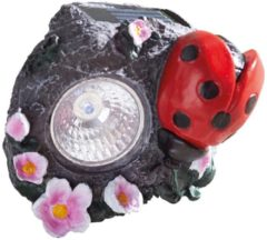 Solarleuchte Marienkäfer rot-grau
