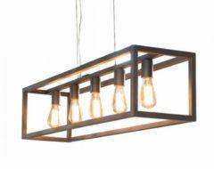 Zaloni Hanglamp 5L rechthoek 4-kante buis - Zilver
