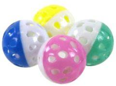 Gebr. de Boon Kattenspeelgoed blisterpak a 4 bal met bel zwaar model