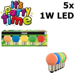 False Calex Party LED Ball-lamp Tray 240V 1W 12lm E27 5 colours (Blue Yellow groen Orange Red)