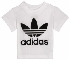 Witte Kleding Trefoil Tee I by adidas originals