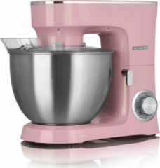 Heinrich's Heinrich´s HKM 8078 Roze Pink keukenmachine, kneedmachine, mengmachine, 3 accessoires, 1400 watt motor, XXL 8 liter RVS mengkom, metalen aandrijving, verlichte schakelaar, leverbaar in 7 kleuren.