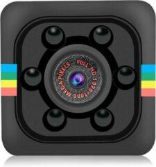 Merkloos / Sans marque SQ11 Mini DVR 12MP 1080p HD 30 FPS Spy Cam Security Action Sport Camera Spycam Dashcam Infrarood LED Nightvision Nachtkijker Motion Detector Spionage Detective Bewaking Verborgen Hidden Video Recorder Zwart