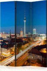 Kamerscherm - Scheidingswand - Vouwscherm - Berlin by night [Room Dividers] 135x172 - Artgeist Vouwscherm