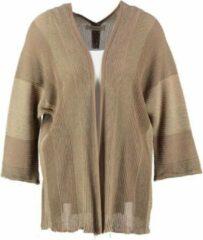 Amélie & Amélie Amelie & amelie bruin oversized vest 3/4 mouw one size fits xl/xxl - Maat one size