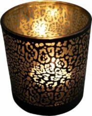 Gouden Mars & More Waxinelichthouder Jaguar Print Mat Zwart (8 x 7,3 cm)
