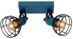 Lucide PAULIEN - Plafondspot Kinderkamer - 2xE27 - Blauw