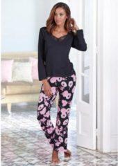 Zwarte LASCANA pyjama in klassiek model