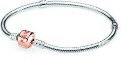 Pandora Rose 580702 Armband zilver met rosékleurige sluiting 17 cm